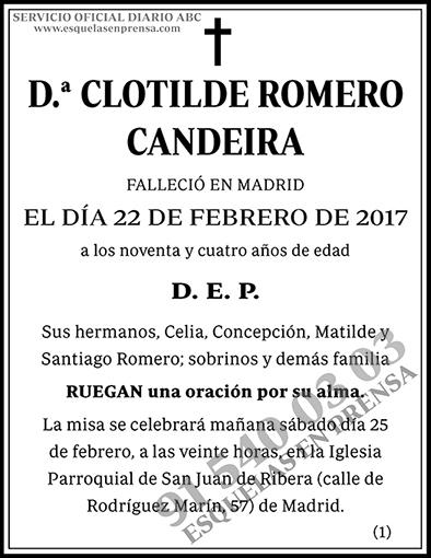 Clotilde Romero Candeira